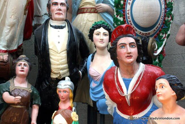 Figureheads in the Cutty Sark in Greenwich