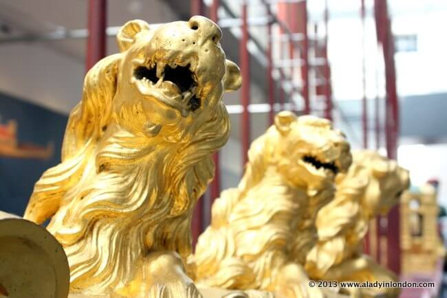 Golden Lions at the National Maritime Museum in London