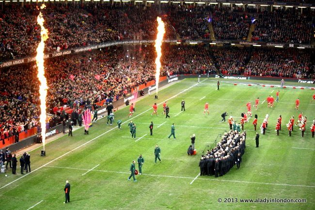 Rugby in Cardiff, Wales