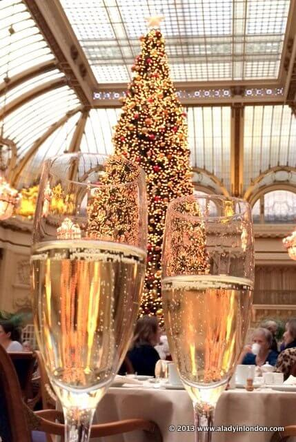 Christmas Champagne at the Palace Hotel in San Francisco
