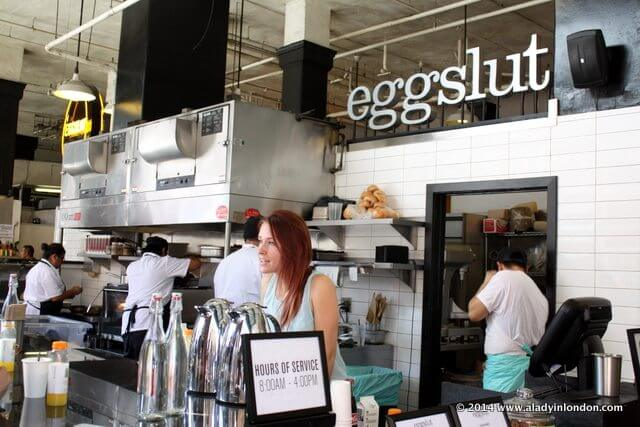 Eggslut in Grand Central Market in LA, California