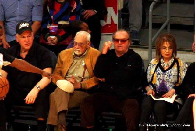 Jack Nicholson at a Lakers Game in Los Angeles, California