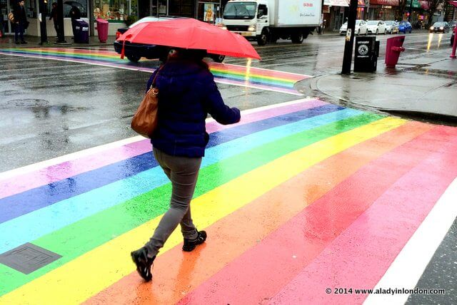 Rainbow Crosswalks in Vancouver's West End