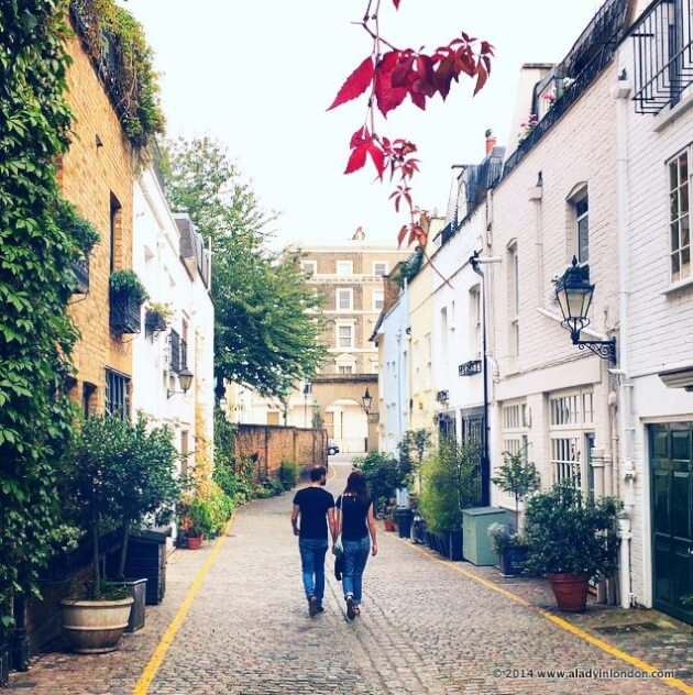 Most Romantic Places In The World 2014: Best Mews Streets In London