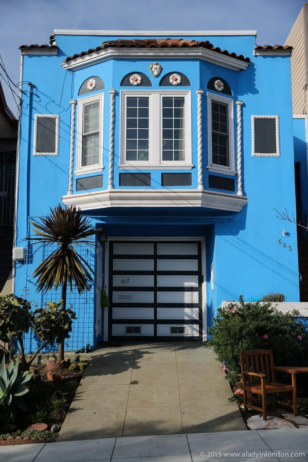 Blue House in San Francisco, California