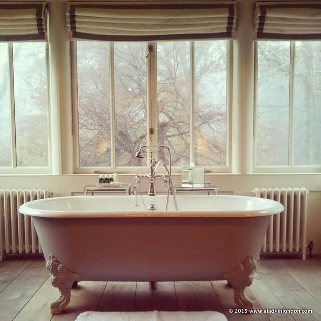 Bathtub at Lime Wood Hotel in Hampshire