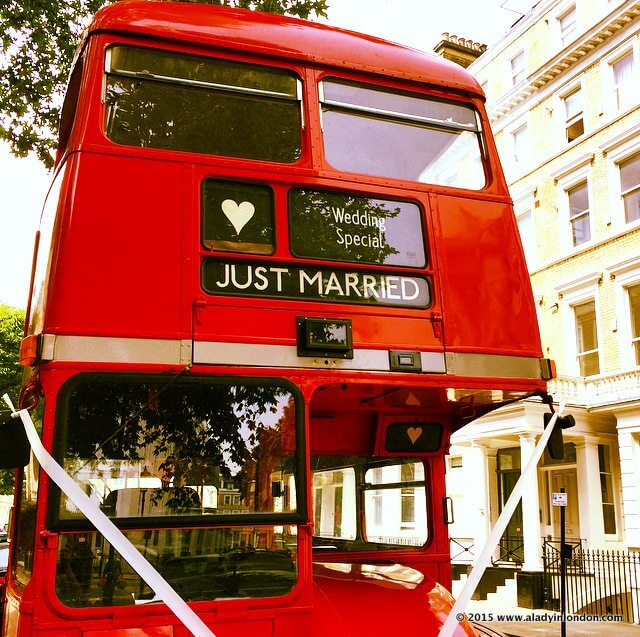 Wedding Routemaster Bus in London