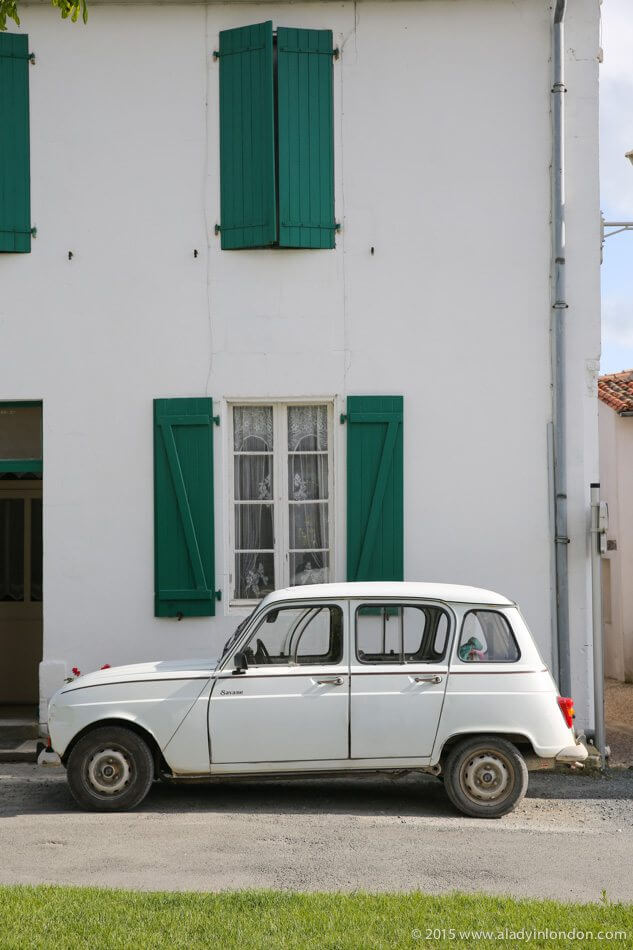 Car on the Ile de Re, France