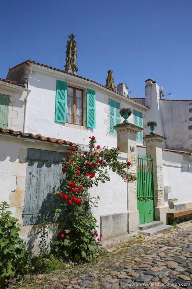 Houses on the Ile de Re, France