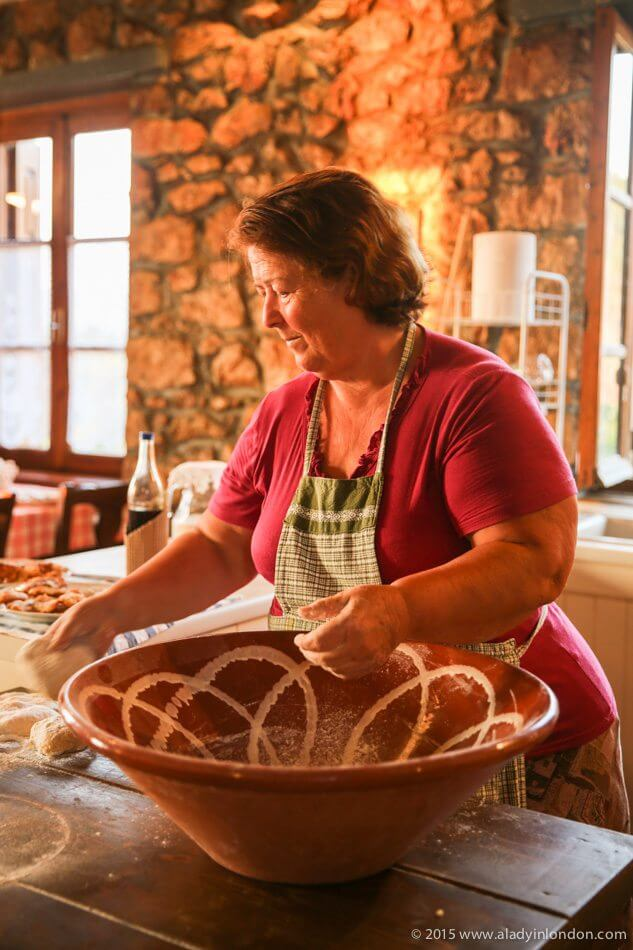 Woman Cooking in Greece