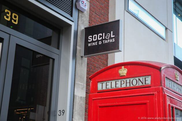 Social Wine and Tapas Restaurant in London