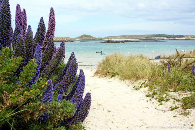 الشاطئ على تريسكو ، جزر سيلي