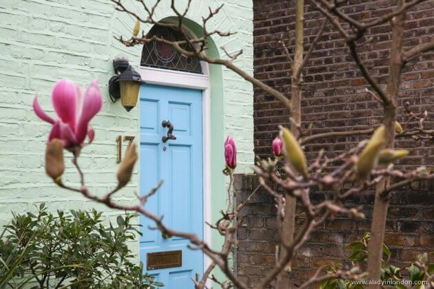 Door in Earls Court, London