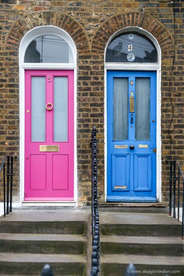 Doors in King's Cross, London