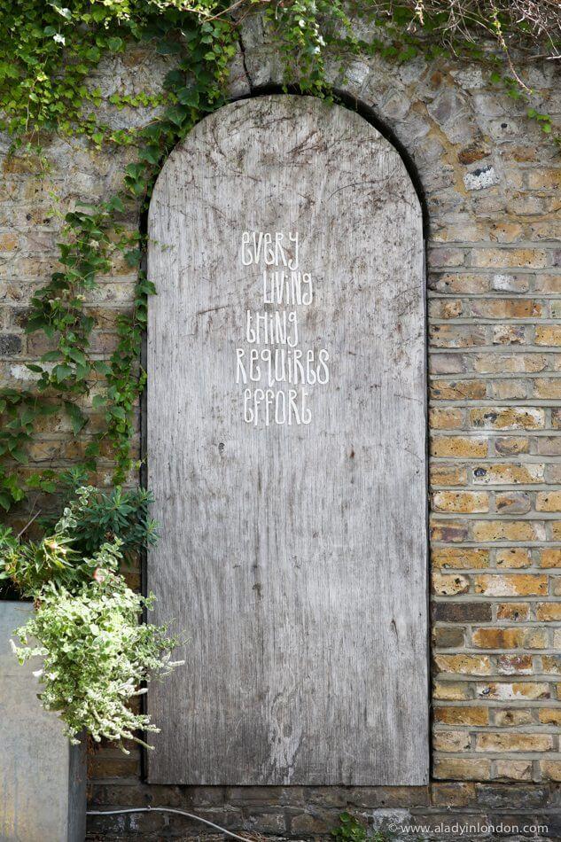Door in St Luke's Mews, London