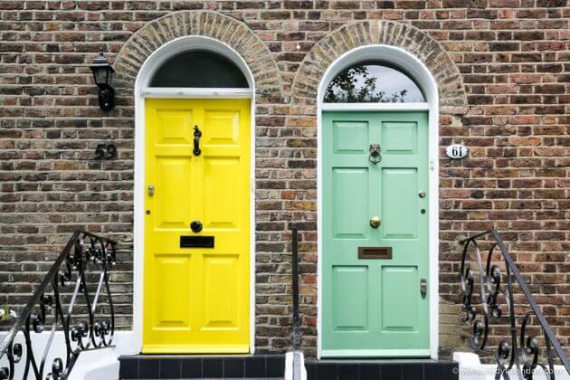 Doors in Hampstead, London