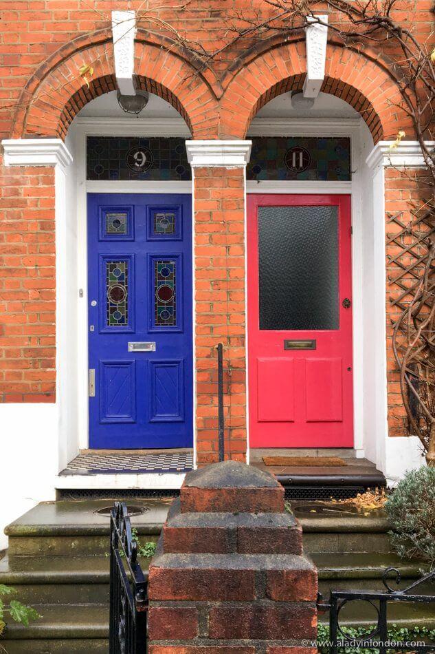 Doors in Kentish Town, London
