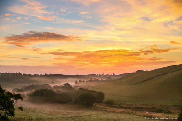 Sunrise in the Scottish Borders