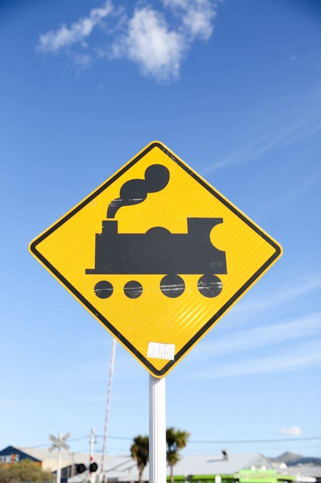 Train Sign, Christchurch, New Zealand