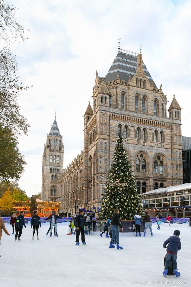 Ice Skating Rink at the Natural History Museum in London
