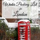 Winter Packing List for London