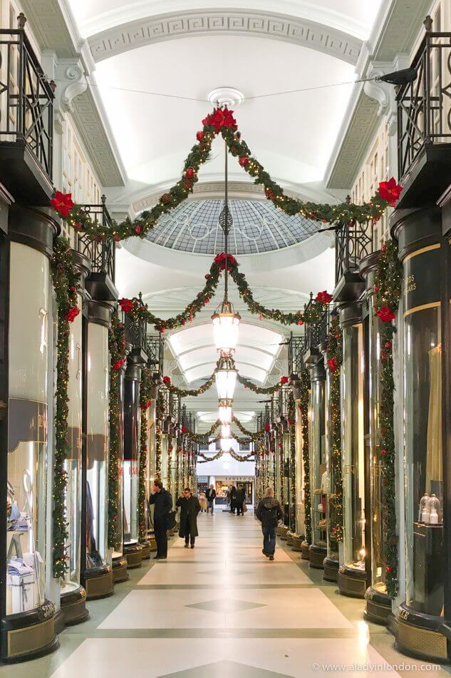 Piccadilly Arcade at Christmas
