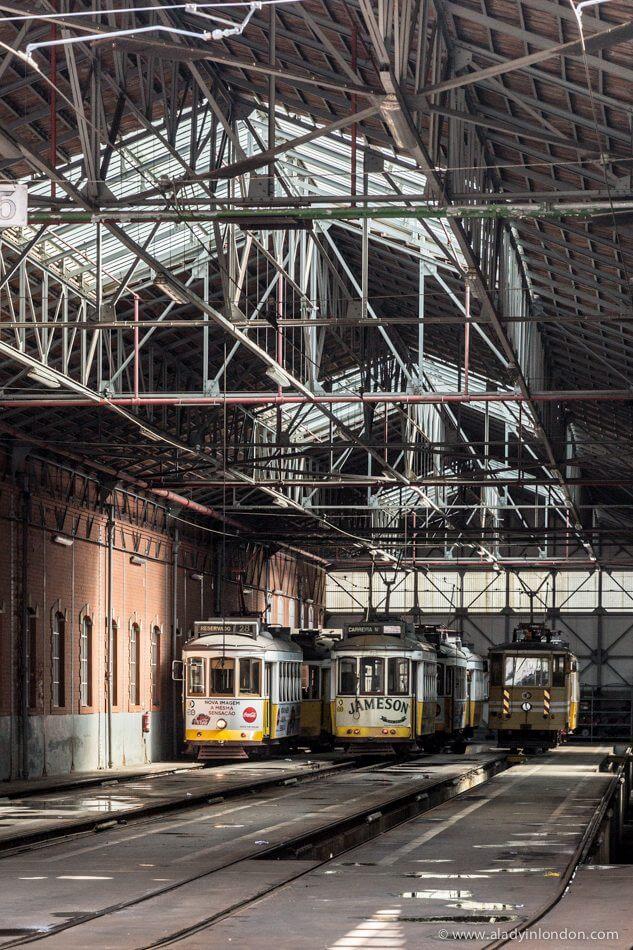 Tram Depot in Lisbon