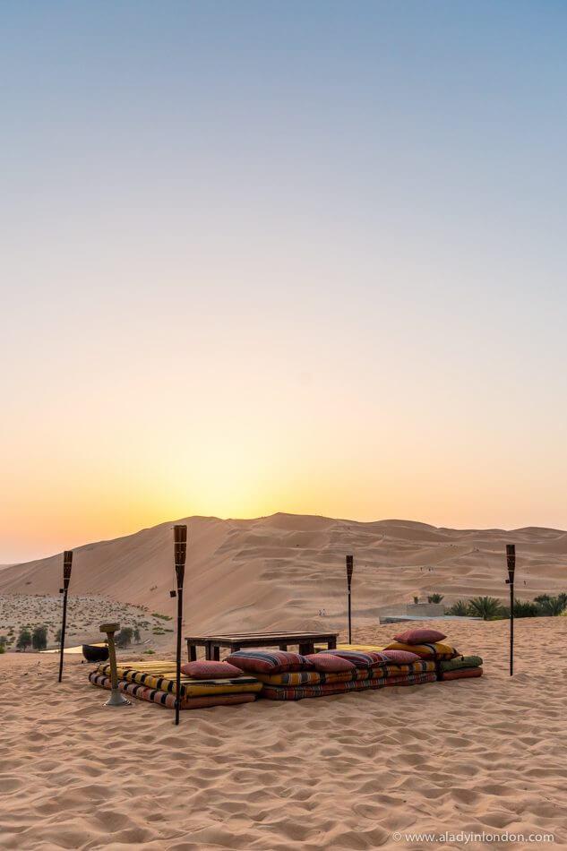 Abu Dhabi Desert Dinner