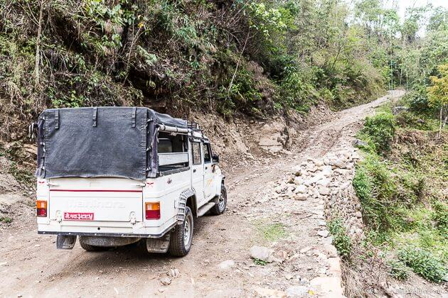 Jeep in Nepal