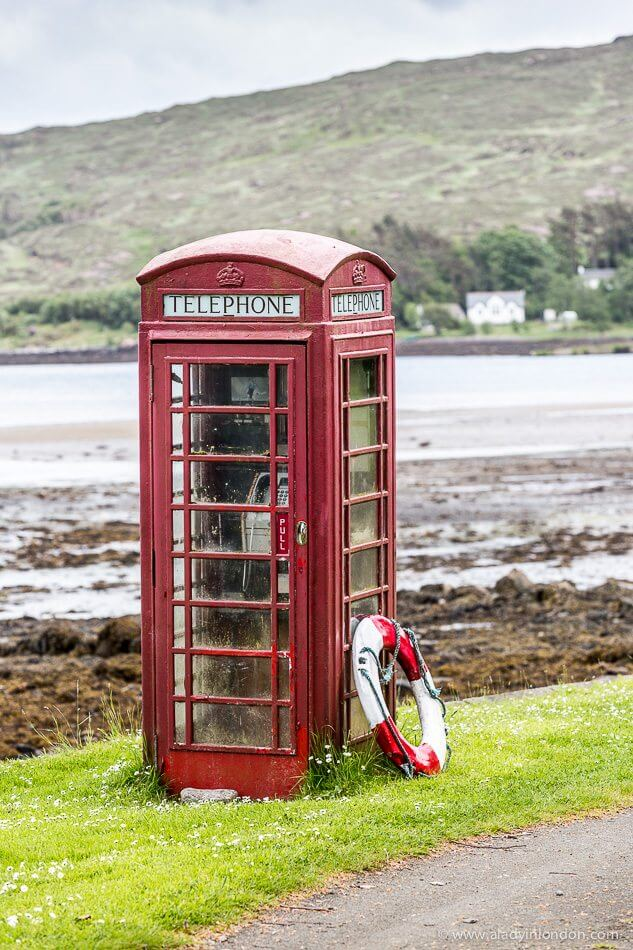 Red Phone Box on Rum