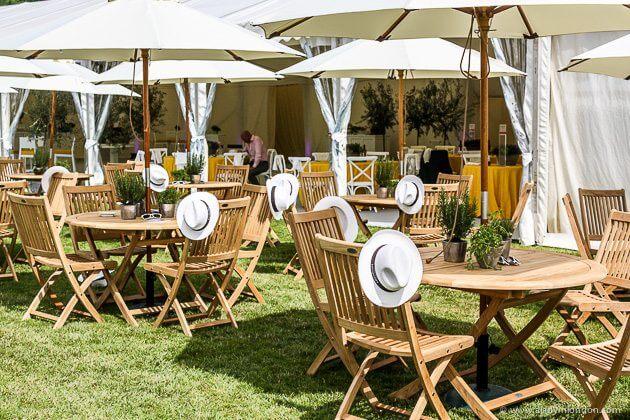 Tables at Henley Royal Regatta