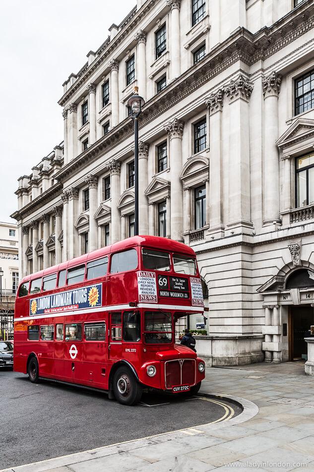 Double Decker Bus in St James's, London