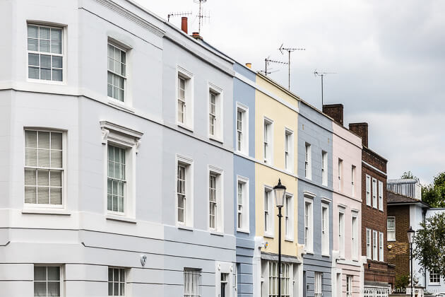 Pastel Houses in Holland Park