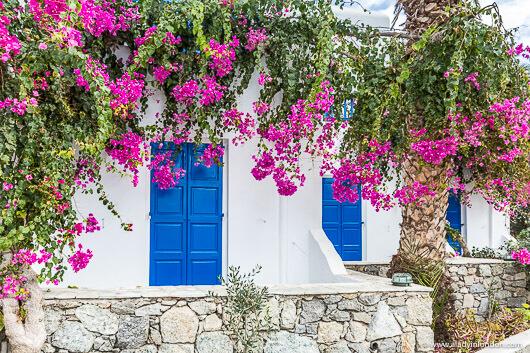 Doors on Ornos Beach, Mykonos