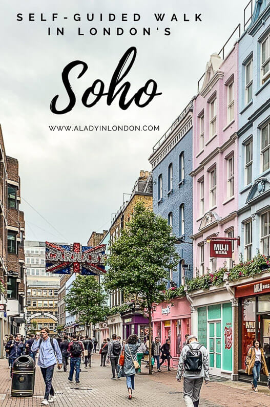 Lady's Exciting Self-Guided Walk in Soho, London