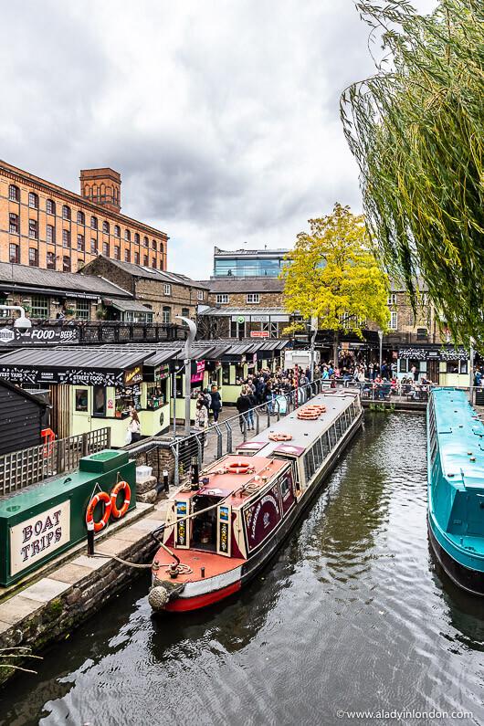 Canal Boats in Camden, London