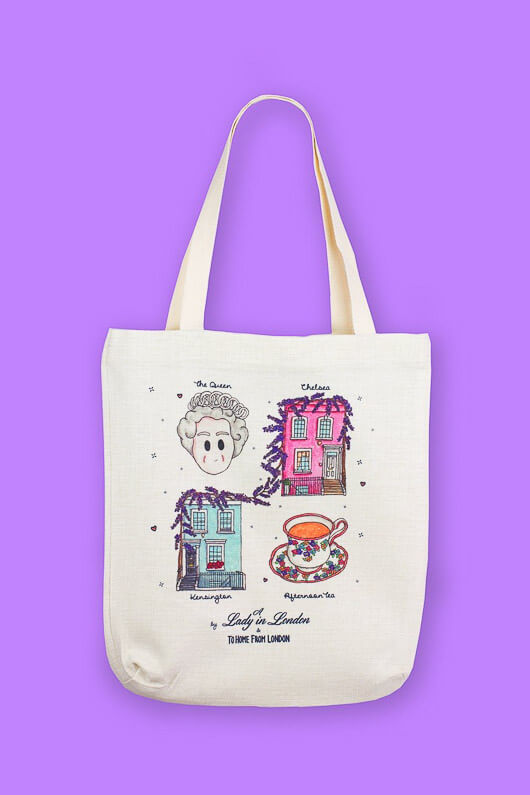 A Lady in London Canvas Tote Bag