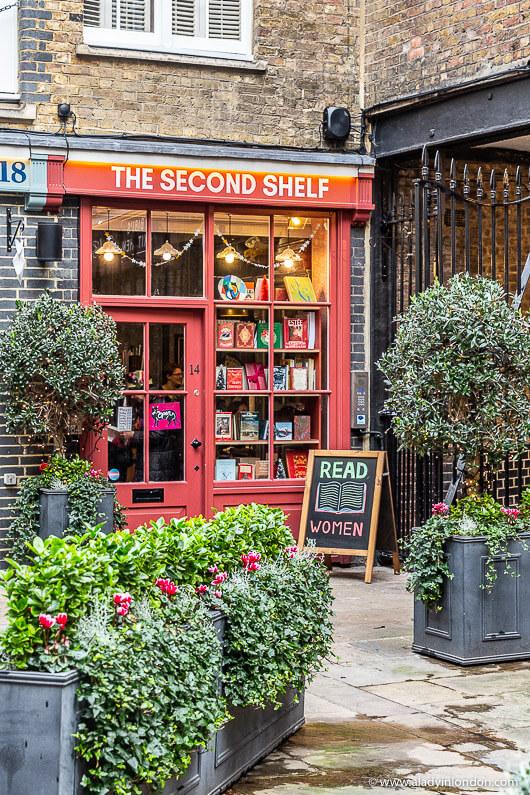 The Second Shelf Bookshop on a London walk