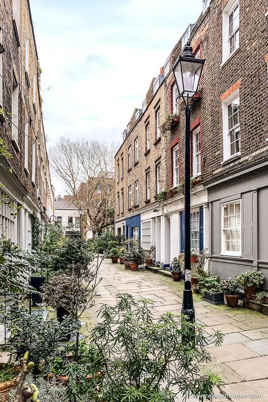 Fitzrovia street on a walk in London