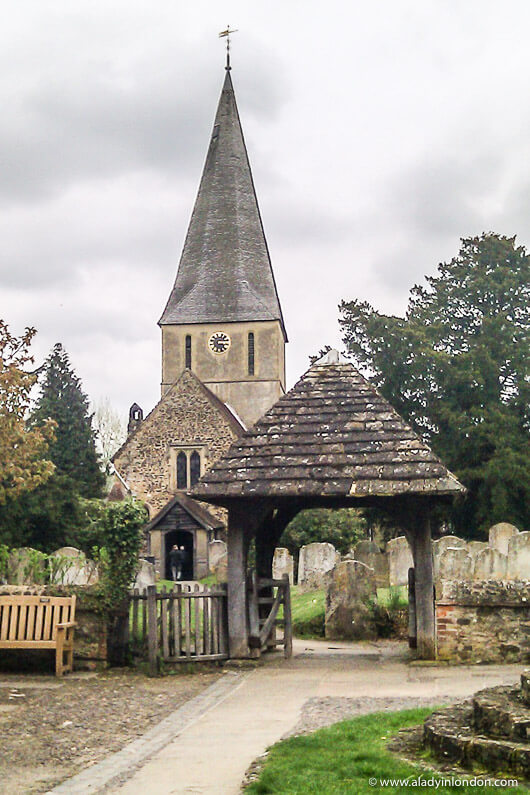 Church in Shere, One of the Most Beautiful Villages in England