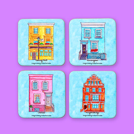 A Lady in London Coasters