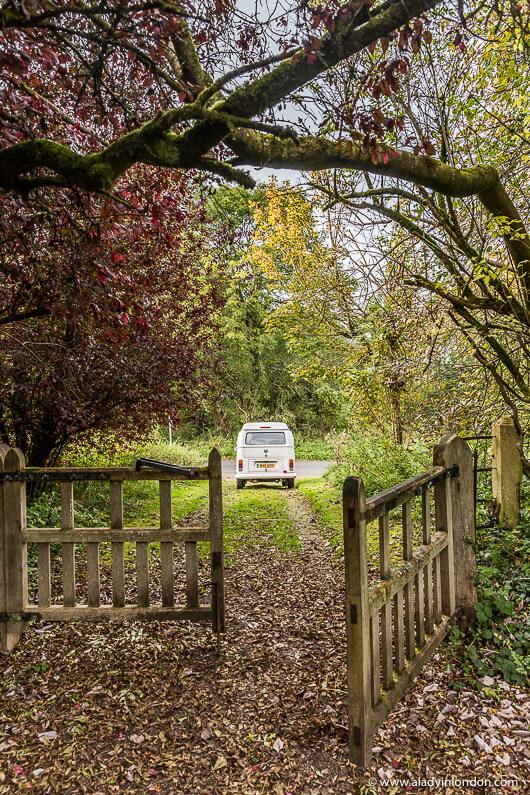 Camper Van in the English Village of Sapperton